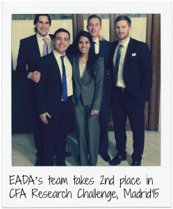 EADA's team takes 2nd place in CFA Research Challenge