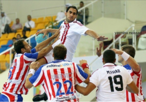 Khaled Mohamed Hossam (in white) versus athletico Madrid