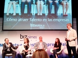 Miquel Roselló, Career Advisor for the EADA Executive MBA and International MBA, giving a presentation at Biz Barcelona on how to attract talent. According to Mr Roselló, in order to attract the best talent, companies need to seduce candidates first by explaining what makes them different.