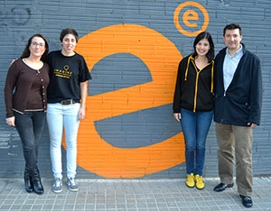 EADA alumni that participated in the first edition of the Imagine Internet of Things this February: Sindy Petoia, Clara Remacha, Carmen Delgado and Eduardo Pardo.