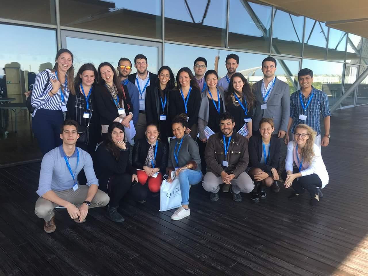 Clase 2017 del programa International Master in Tourism & Hospitality Management visitando CCIB Barcelona.