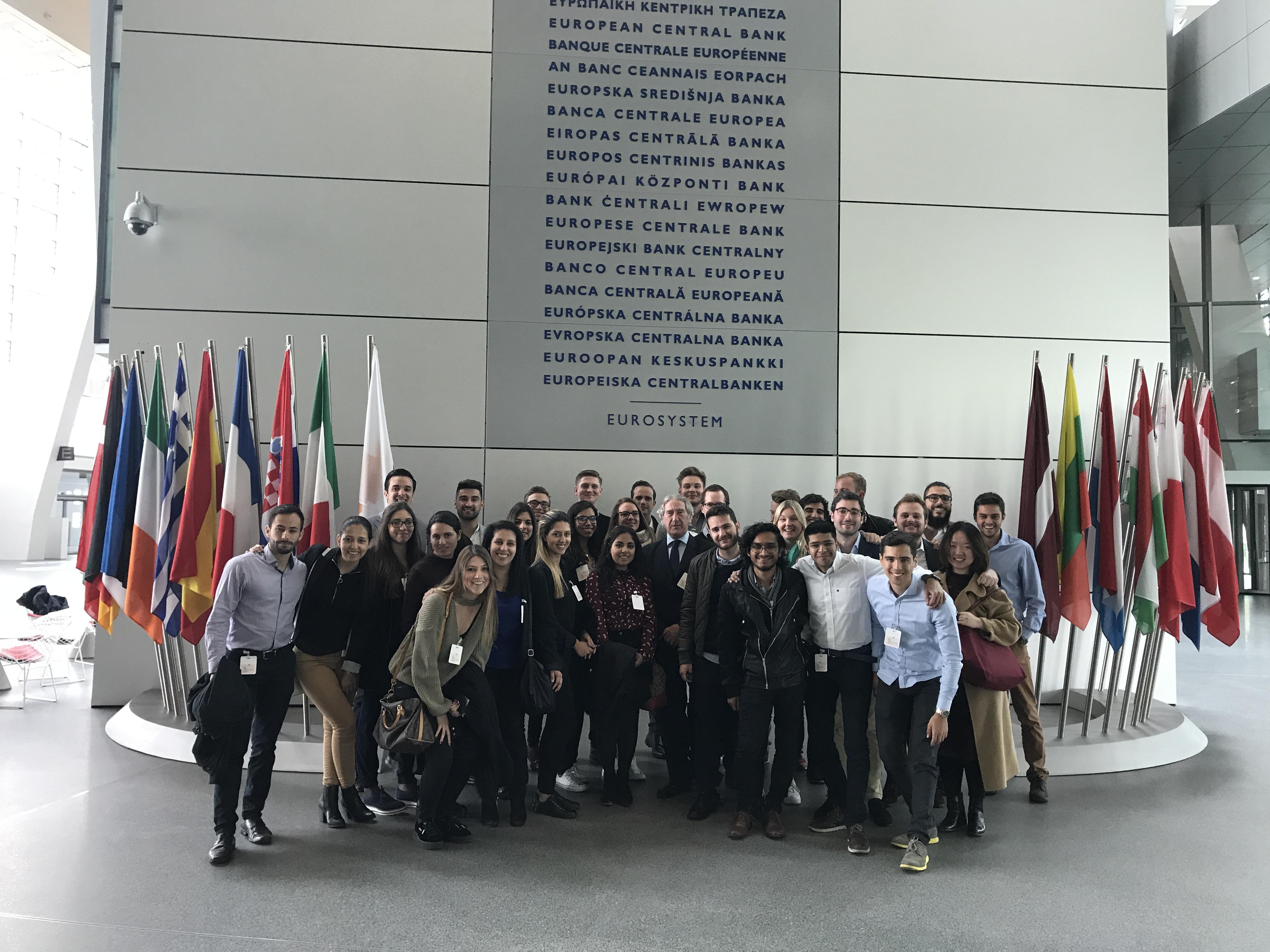 Según el participante Mauricio Verástegui, la visita al Banco Central Europeo fue uno de los aspectos más destacados del viaje.
