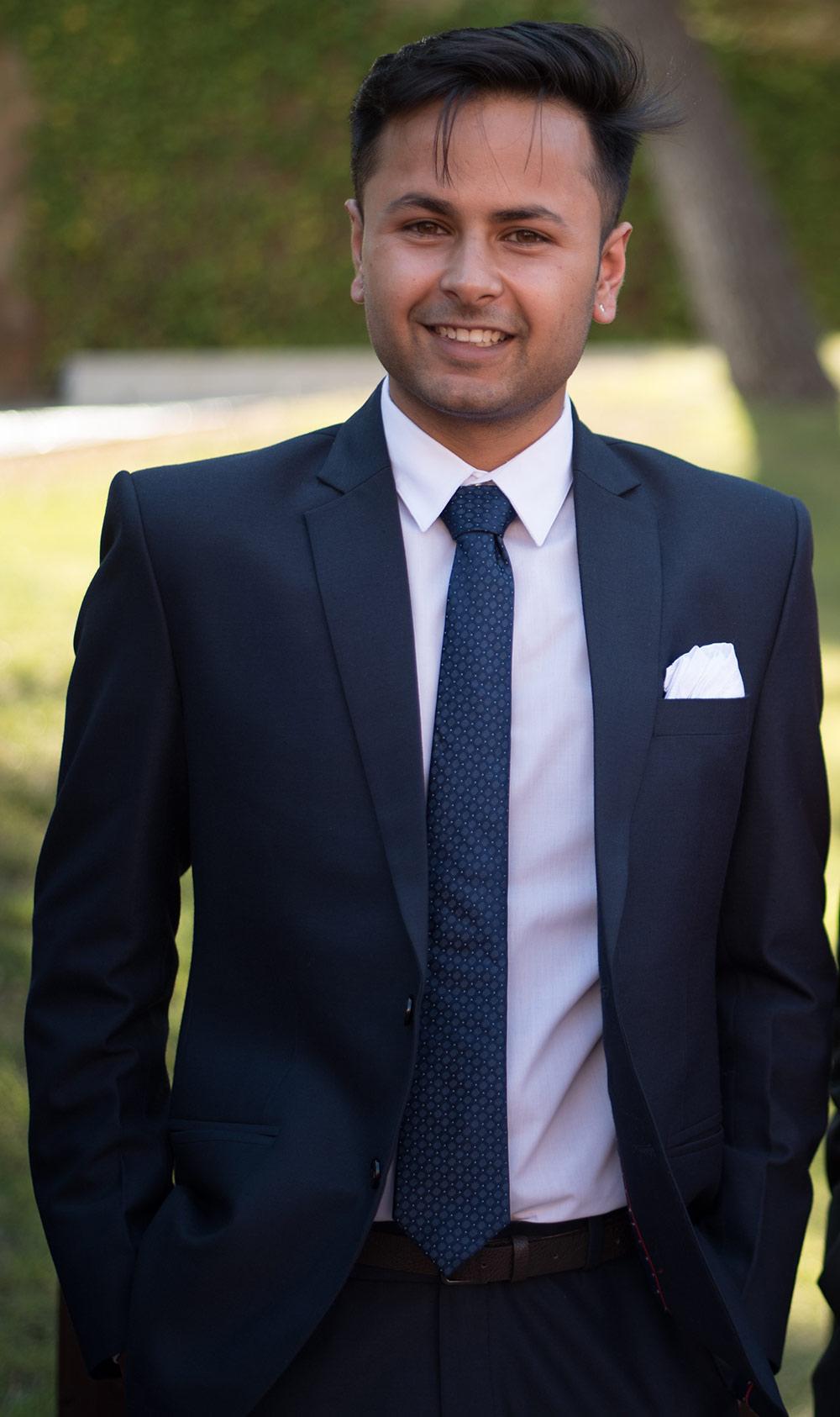 Ajay Shekhawat graduado en el programa International Master in Management, 2017.