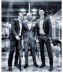 Daniel Hernan (Colombia), Clinton Walker (Australia) y Julian Schmit (Austria) en el TNC de Colombia 2017.